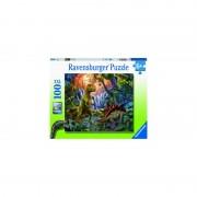 PUZZLE OAZA DINOZAURILOR, 100 PIESE - RAVENSBURGER (RVSPC12888)