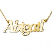 Personalized Men's Jewelry Personalized 18K Gold Plated Sterling Silver Name Necklace 101-01-073-08