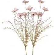 Shoppartners 2x Roze papaver/klaproosjes takken 53 cm decoratie - Kunstplanten