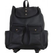 JMO27Deals FB-08 High Quality Leatherette 15 L Backpack(Black)