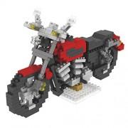 Segolike Creative Motorcycle Micro Building Blocks Diamond Building Blocks Kids Toys - red, Building Block (L x H): 8 x 5 mm
