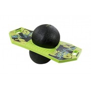 Flybar Pogo Ball Trick Board With Grip Tape & Ball Pump For Kids Ages 6 & Up - 5 Colors Available