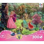"Thomas Kinkade Disney Dreams Collection ""Disney Princess"": Sleeping Beauty 300 Piece Jigsaw Puzzle Made in USA"