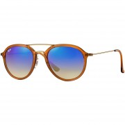 Lentes De Sol Ray-Ban RB4253 62388B -Café/Lente Azul Brillante Gradiente