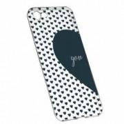 Husa Silicon Transparent Slim Love Me + You 101 Apple iPhone 7 8