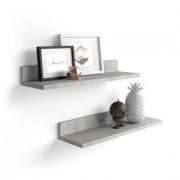 Mobili Fiver Par de estantes, modelo Rachele, de MDF, 60 cm, color cemento