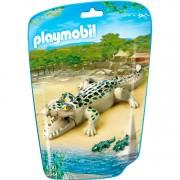 City Life - Playmobil Alligator met baby's