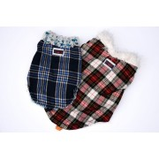 Fluffy Tartan in Red or Blue