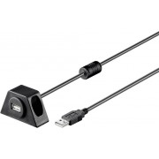 Cablu prelungitor USB 2.0, mufa tata USB A - mufa mama USB A, 3 m, negru, Goobay