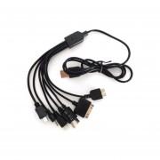 Cable Multicargador Sumex CAB-810 10 Conectores - Negro