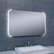 Douche Concurrent Badkamerspiegel Bracket 100x60cm Geintegreerde LED Verlichting Verwarming Anti Condens Touch Lichtschakelaar Dimbaar
