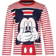 Disney Kindershirt Mickey Mouse wit met rood