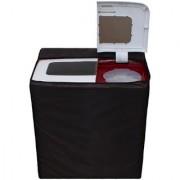 Glassiano Coffee Waterproof Dustproof Washing Machine Cover For semi automatic Haier XPB68-116S 6.8 Kg Washing Machine