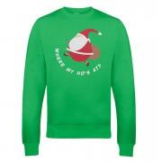 Fat Santa Xmas Sweatshirt - XXL - Green