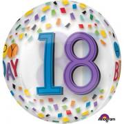 Balon folie 18 ani Happy Birthday