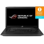 "Laptop Gaming ASUS ROG GL703GE-GC024 (Procesor Intel® Core™ i7-8750H (9M Cache, up to 3.90 GHz), 17.3""FHD, 8GB, 1TB HDD @5400RPM, nVidia GeForce GTX 1050 Ti @4GB, Wireless AC, Tastatura iluminata, Free DOS, Negru)"