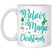 Bekieve In The Magic Of Christmas - Happy Holidays - 11 oz. White Mug - 2030