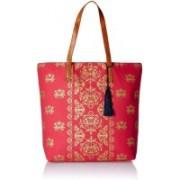 Kanvas Katha Fashion Women's Tote Bag Shoulder Bag(Pink, 15 inch)