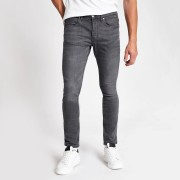 River Island Mens Grey Sid skinny fit jeans (34XL)