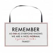 Placuta MDF Remember Everyone Knows