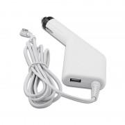 Incarcator auto laptop Apple A1150, A1151, A1172, A1212, A1222, A1226 85W MagSafe 1 cu port USB 5V 2A