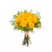 12 Rosas Amarillas de Tallo Corto - Flores a Domicilio