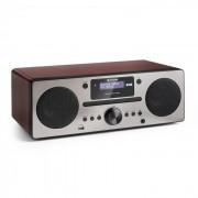 Auna Harvard, микро система, DAB / DAB +, FM тунер, CD плейър, USB зареждане, орех (MG3-Harvard WA)