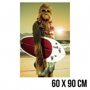 POSTER CHEWBACCA SURF
