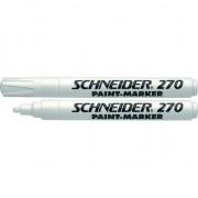 Marker cu vopsea SCHNEIDER Maxx 270, varf rotund 1-3mm - alb