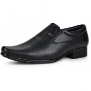 Essence Men's Black Formal Synthetic Slip-On Shoes