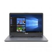 "Лаптоп Asus VivoBook X705UB-BX253 (90NB0IG2-M03210)(сив), четириядрен Skylake Intel Pentium 4405U 2.1 GHz, 17.3"" (43.94 cm) HD+ Anti-Glare LED backlit Display & GF MX110 2GB, (HDMI), 4GB DDR4, 256GB SSD, 1x USB 3.1 Type C, Free DOS, 2.10 kg"