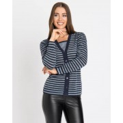 Helena Vera Pullover in Cardigan-Optik