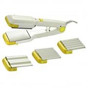 Преса за коса с 4 вида плочи SAPIR SP 1101 AI, 20W, Бял/жълт