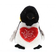 Dollibu Large Emperor Penguin I Love You Valentines Stuffed Animal - Heart Message 9.5 Inch Super Soft Plush (K5467 5998)
