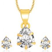 Sukkhi Delightful Gold Plated CZ Pendant Set For Women