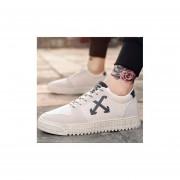 Ocio Transpirable Zapatillas De Deporte Zapatos De Lona --Beige