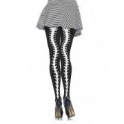 Vegaoo Skelett-Strumpfhose für Damen schwarz-weiß