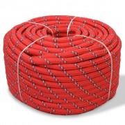 vidaXL paadiköis polüpropüleenist 16 mm, 250 m, punane