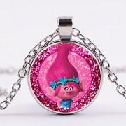 Movie Trolls Necklace Figures Poppy Branch Metal Pendants Troll Characters Toy