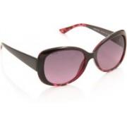 Glares by Titan Round Sunglasses(Pink)