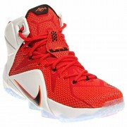 nike lebron XII 12 mens hi top basketball trainers 684593 sneakers shoes james (uk 11 us 12 eu 46, university red black white hyper crimson 601)