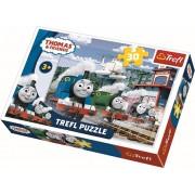Puzzle Thomas si prietenii - Cursa pe sine, 30 piese