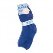 Z-1026 kék és szürke univerzális méretű 34-38 gyerek 3 pár bélelt zokni