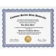 Customer Service Degree: Custom Gag Diploma Doctorate Certificate (Funny Customized Joke Gift - Novelty Item)