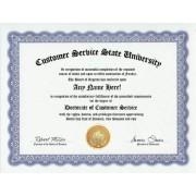 Customer Support Degree: Custom Gag Diploma Doctorate Certificate (Funny Customized Joke Gift - Novelty Item)
