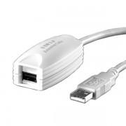Cable, USB2.0, Roline VALUE, USB 2.0 Extender, 1 Port, 5m, White (12.99.1100)
