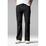 Mens Next Black Jeans With Stretch - Straight Fit - Black Trousers