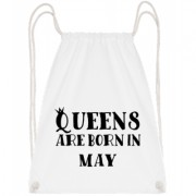 Queens Are Born In May - Turnbeutel