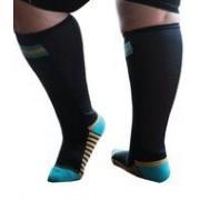 XpandaSport Sportsok met mesh panel - zwart - turquoise 35 - 41 - XpandaSport