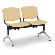Kovo Praktik Plastové lavice Design, 2-sedák žlutá